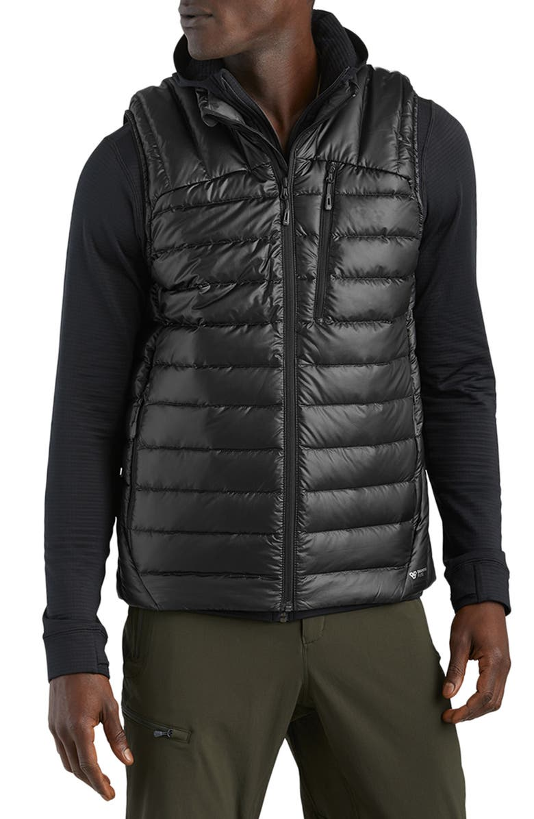 OUTDOOR RESEARCH Helium 800 Fill Down Vest, Main, color, BLACK