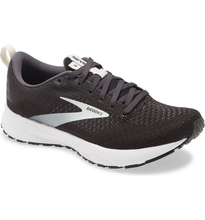 BROOKS Revel 4 Hybrid Running Shoe, Main, color, BLACK/ OYSTER/ SILVER