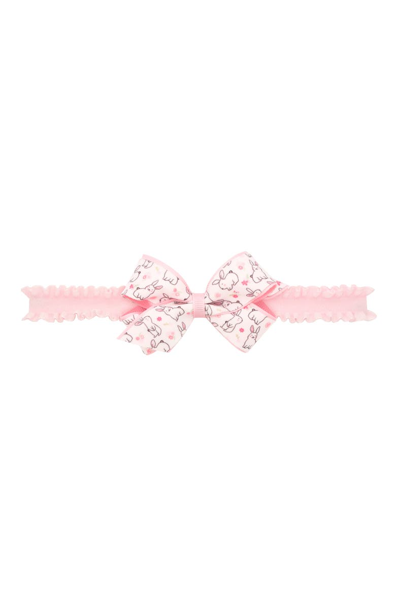 PLH BOWS Easter Print Bow Head Wrap, Main, color, LIGHT PINK