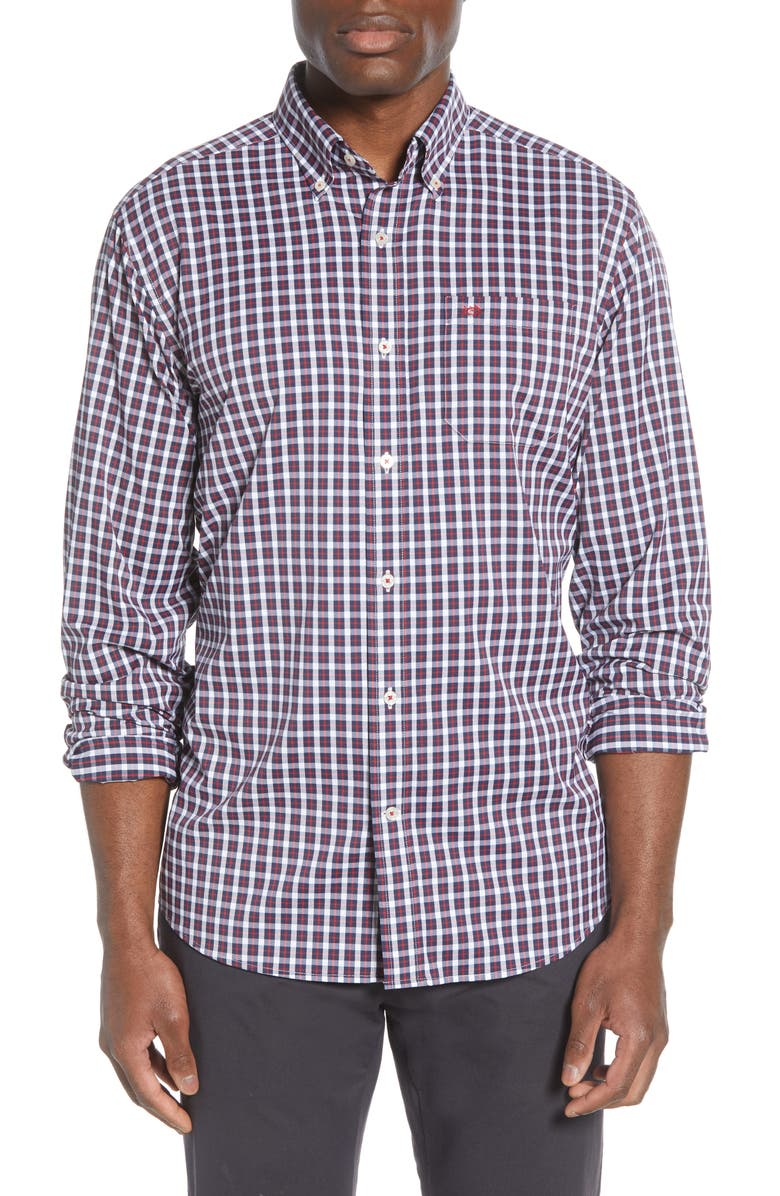 SOUTHERN TIDE Ship Rig Regular Fit Button-Down Performance Shirt, Main, color, 649