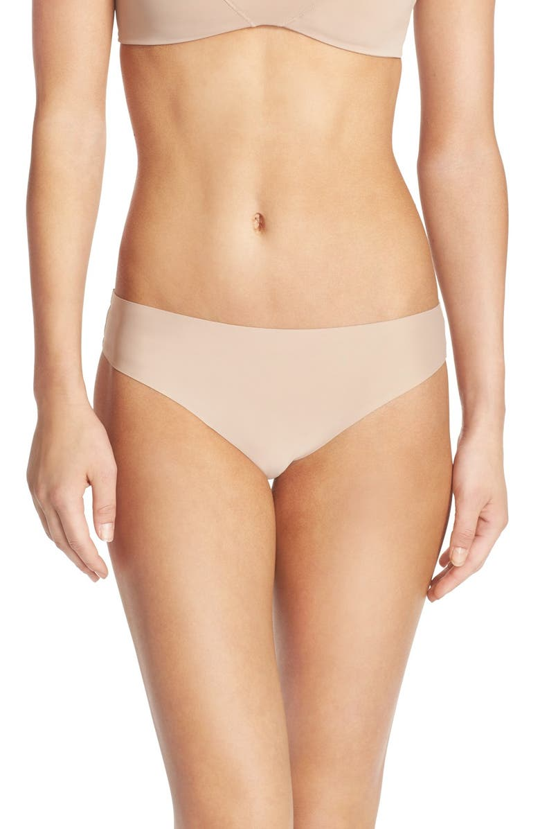 HONEYDEW INTIMATES Skinz Hipster Thong, Main, color, NUDE