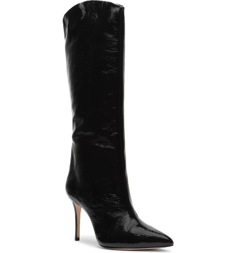 SCHUTZ Maryana Pointed Toe Boot, Main, color, BLACK PATENT LEATHER