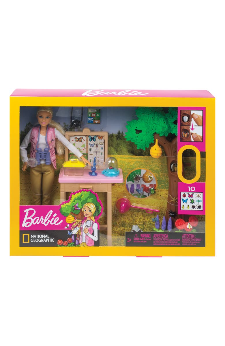MATTEL Barbie<sup>®</sup> National Geographic Entomologist Doll and Playset, Main, color, 999