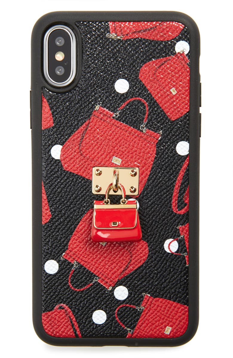 DOLCE&GABBANA Miss Siciliy iPhone X Case, Main, color, 001