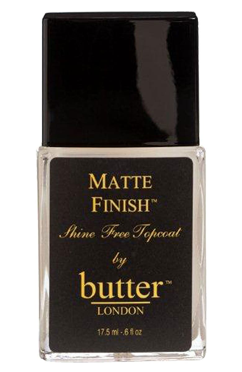 BUTTER LONDON 'Matte Finish<sup>™</sup>' Shine Free Topcoat, Main, color, No Color