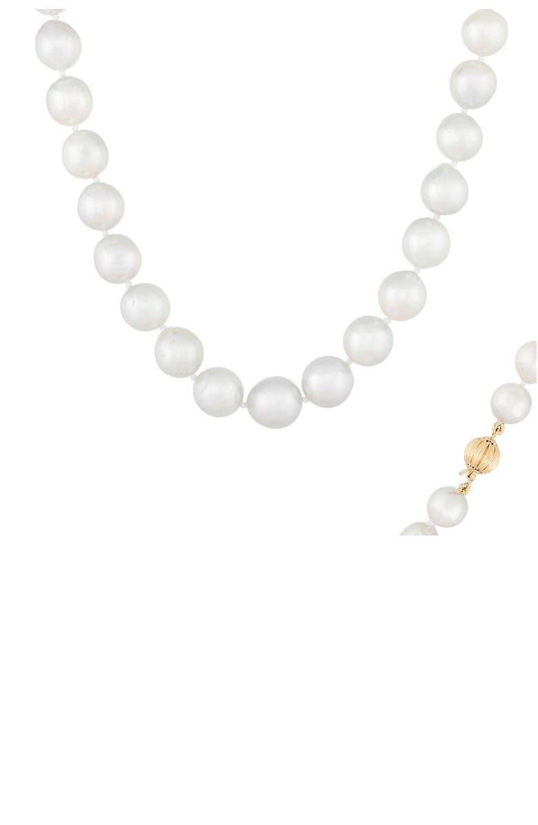 SPLENDID PEARLS 14K Gold 10-13mm South Sea Pearl Necklace, Main, color, NATURAL WHITE