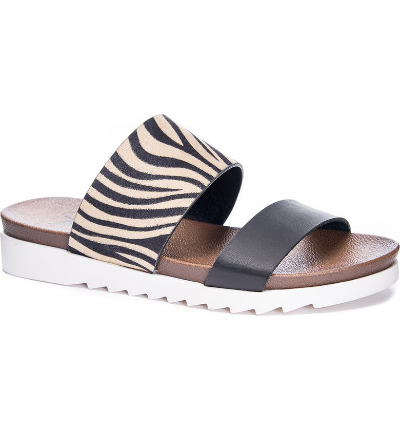 DIRTY LAUNDRY Coastline Slide Sandal, Main, color, NATURAL FAUX LEATHER