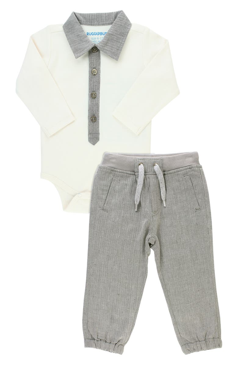 RUGGEDBUTTS Bodysuit & Jogger Pants Set, Main, color, 020