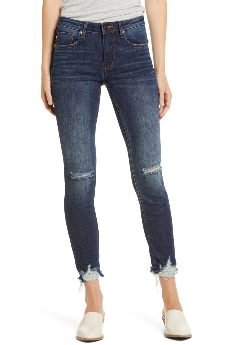 VIGOSS Thompson Ripped Tomboy Ankle Skinny Jeans, Main, color, DARK WASH