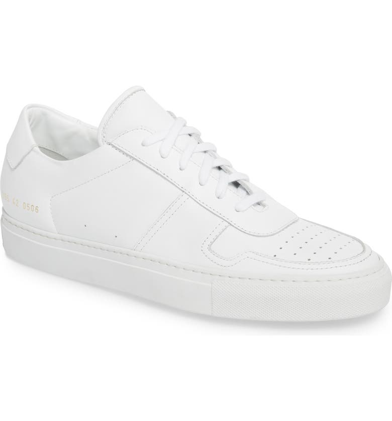 COMMON PROJECTS Bball Low Top Sneaker, Main, color, WHITE LEATHER