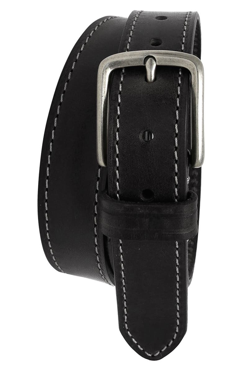 BOCONI Leather Belt, Main, color, 001