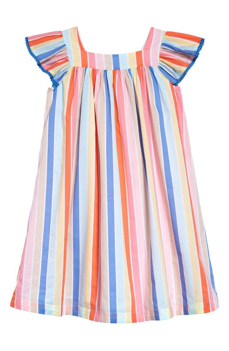 TUCKER + TATE Print Summer Dress, Main, color, WHITE RAINBOW STRIPE