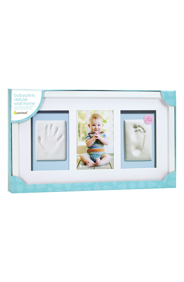 PEARHEAD Babyprints Deluxe Wall Frame Kit, Main, color, WHITE