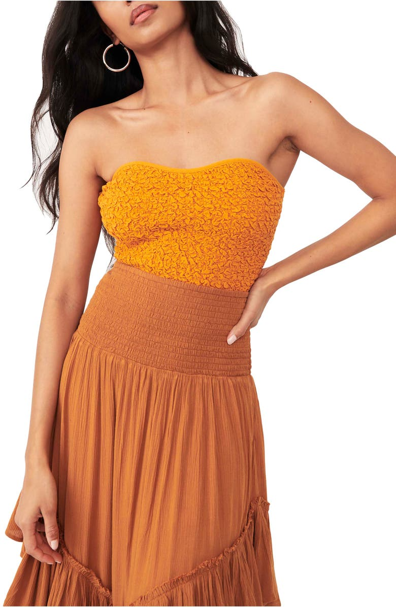 FREE PEOPLE Eternal Staple Strapless Bustier Top, Main, color, TAWNY