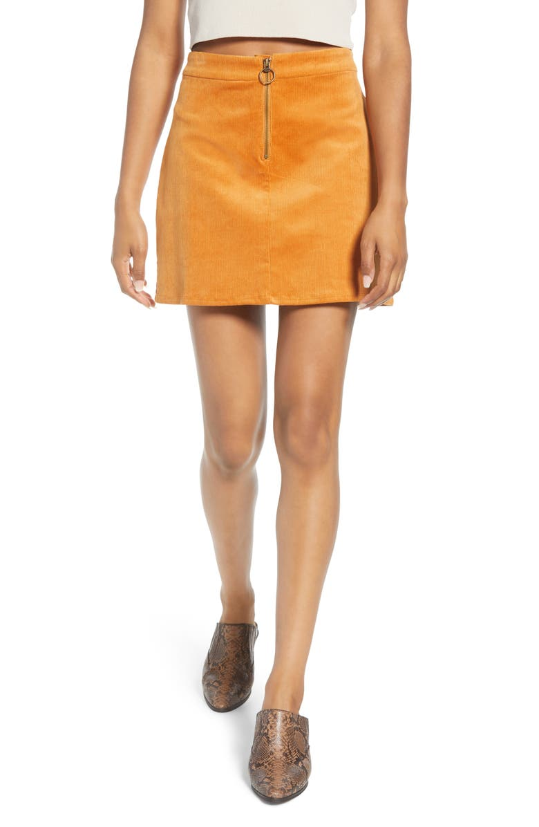 BAND OF GYPSIES Since I've Been Loving You Corduroy Miniskirt, Main, color, 700