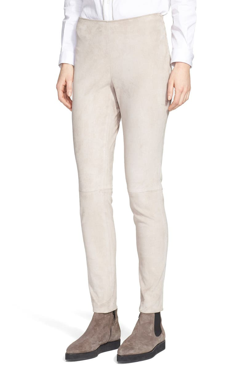 FABIANA FILIPPI Stretch Suede Leggings, Main, color, 280