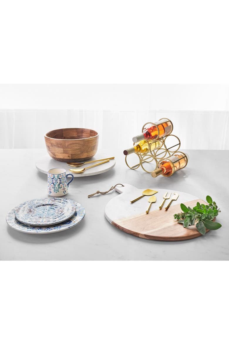 NORDSTROM at Home Round Marble & Acacia Wood Serving Board, Main, color, 001