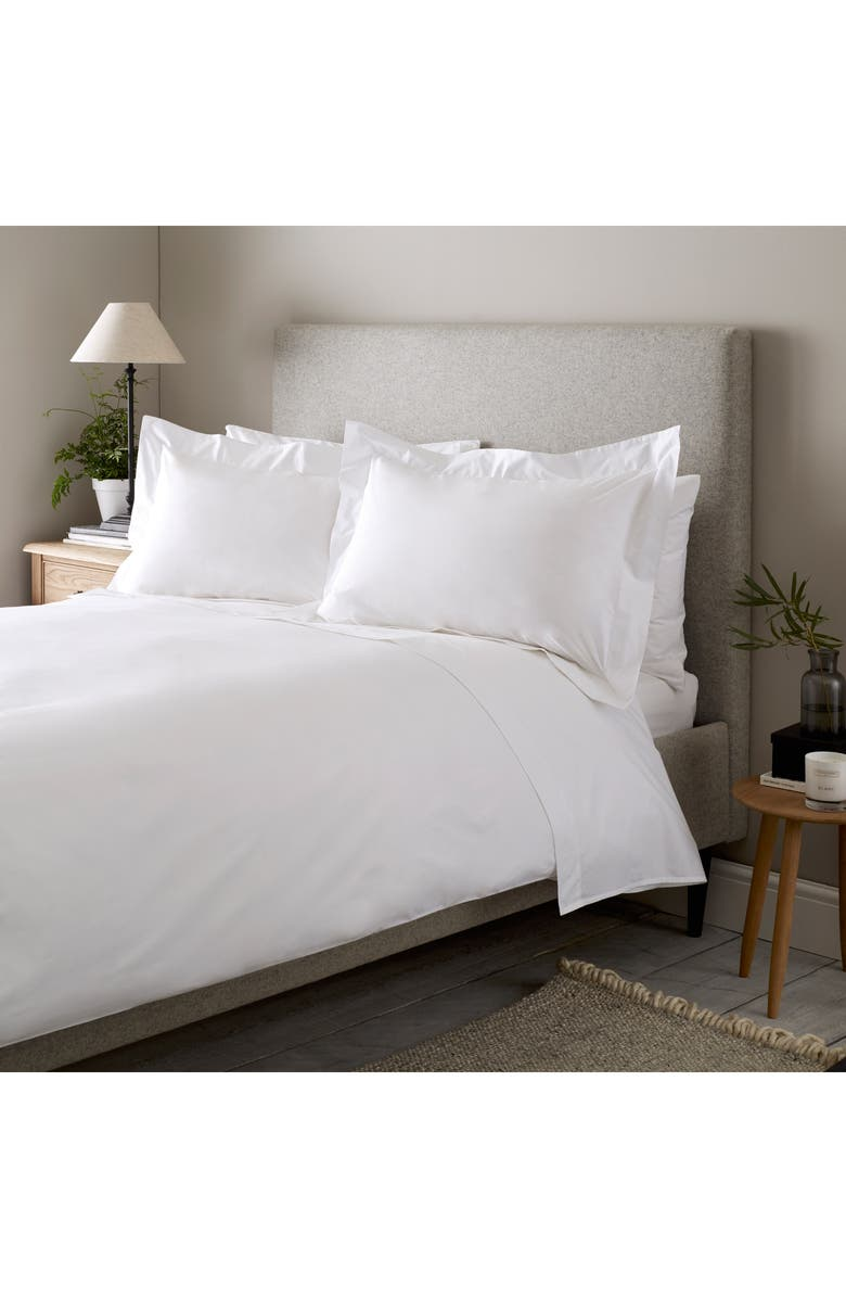 THE WHITE COMPANY 300 Thread Count Egyptian Cotton Flat Sheet, Main, color, 100