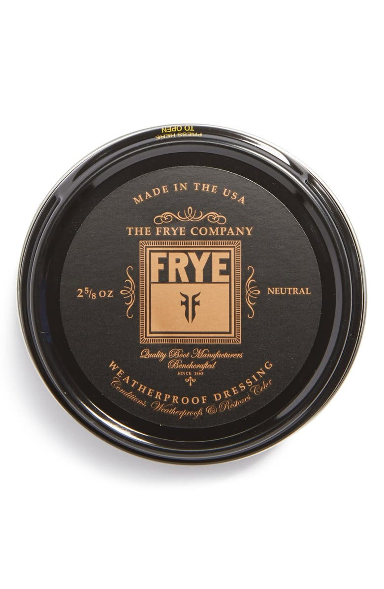 FRYE Leather Conditioning Cream, Main, color, CLEAR