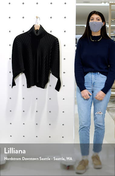 December Pleated Turtleneck Top, sales video thumbnail