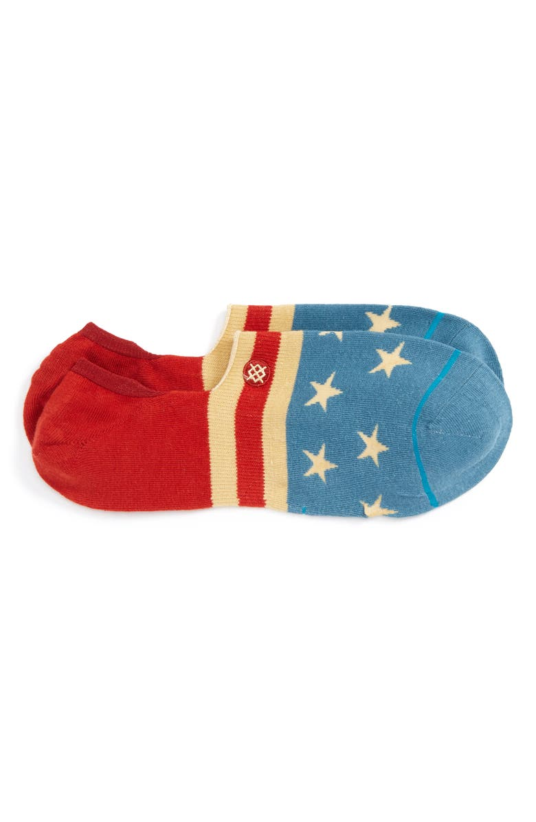 STANCE The Fourth No-Show Socks, Main, color, Blue