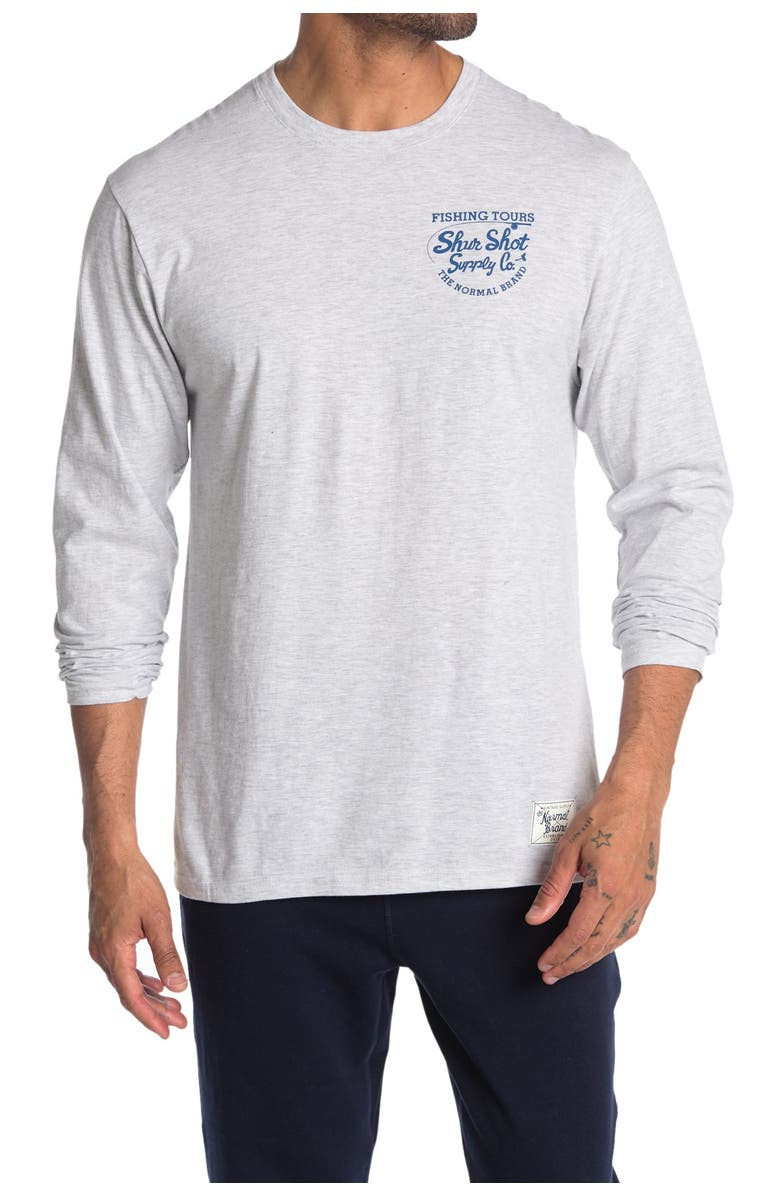 THE NORMAL BRAND Long Sleeve Shirt, Main, color, STONE