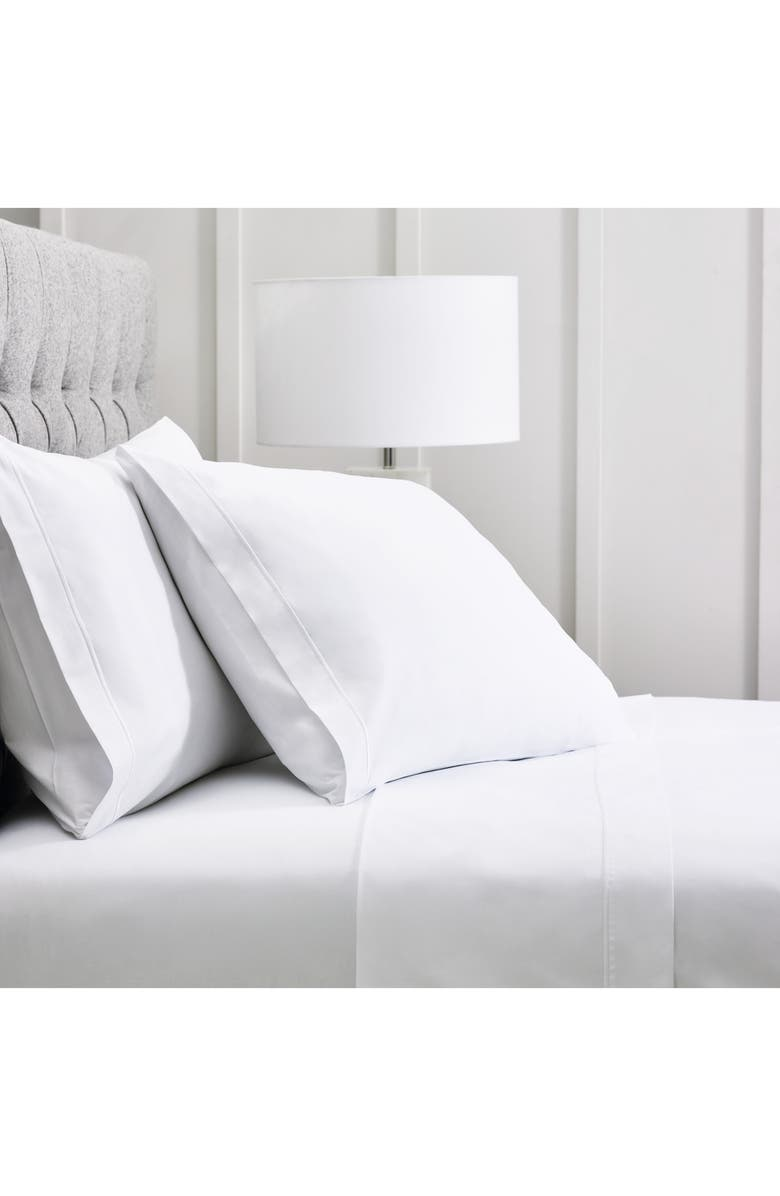 THE WHITE COMPANY Luxury Savoy 400 Thread Count Fitted Sheet, Main, color, White