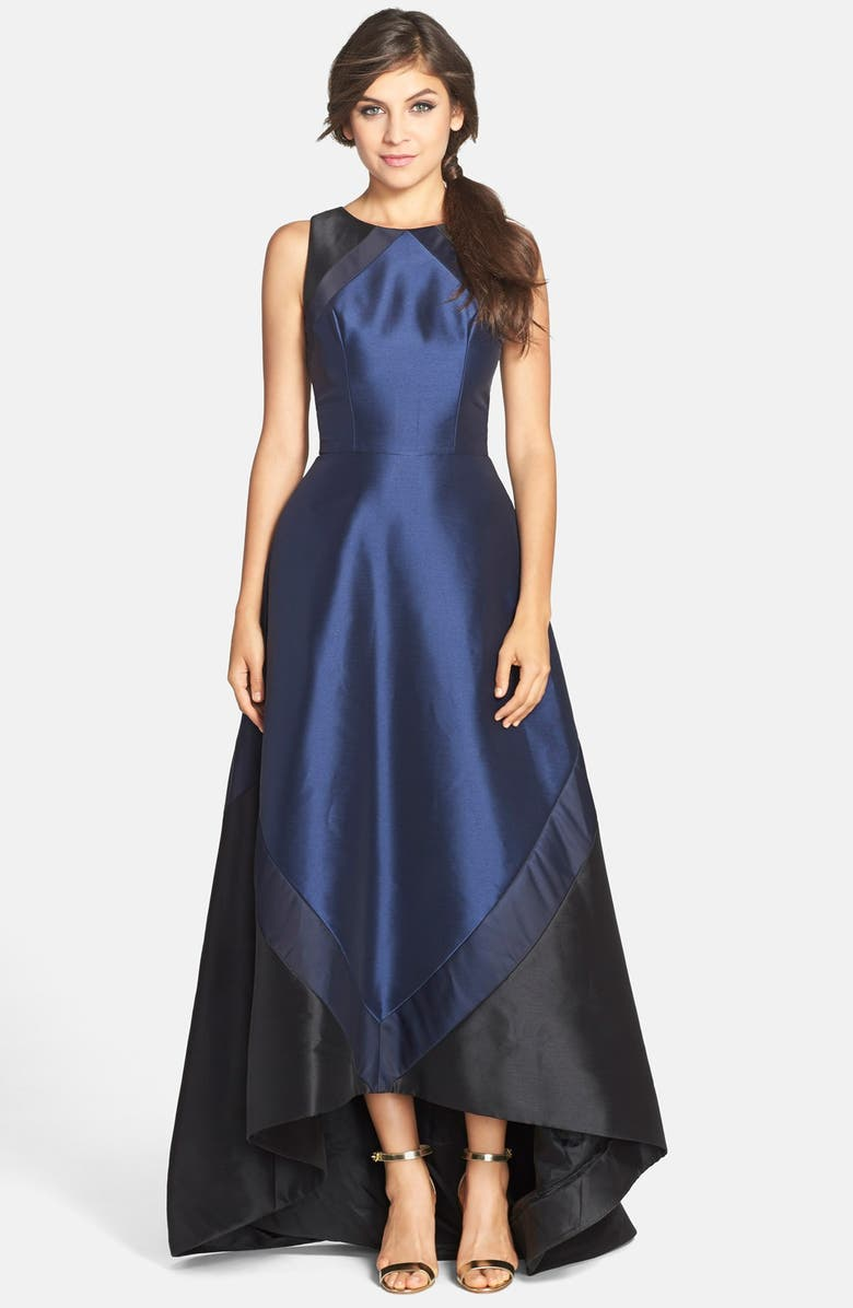 THEIA Sleeveless Colorblock Gown, Main, color, MIDNIGHT BLUE