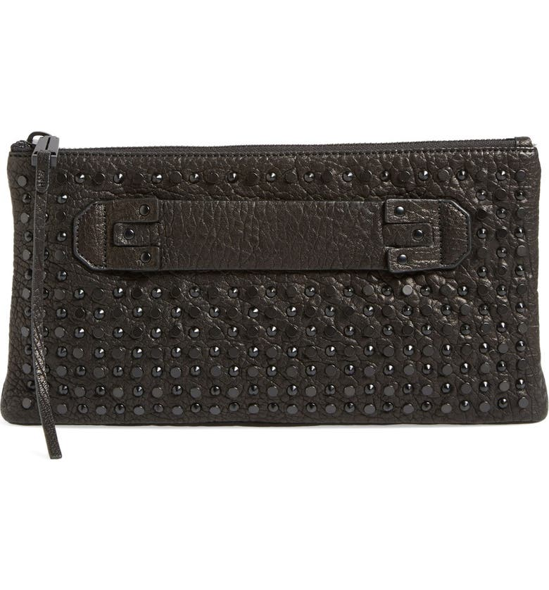 SHE + LO 'Next Chapter' Studded Clutch, Main, color, 001
