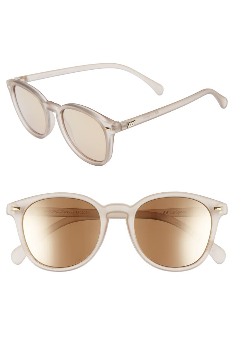 LE SPECS Bandwagon 51mm Sunglasses, Main, color, MATTE STONE