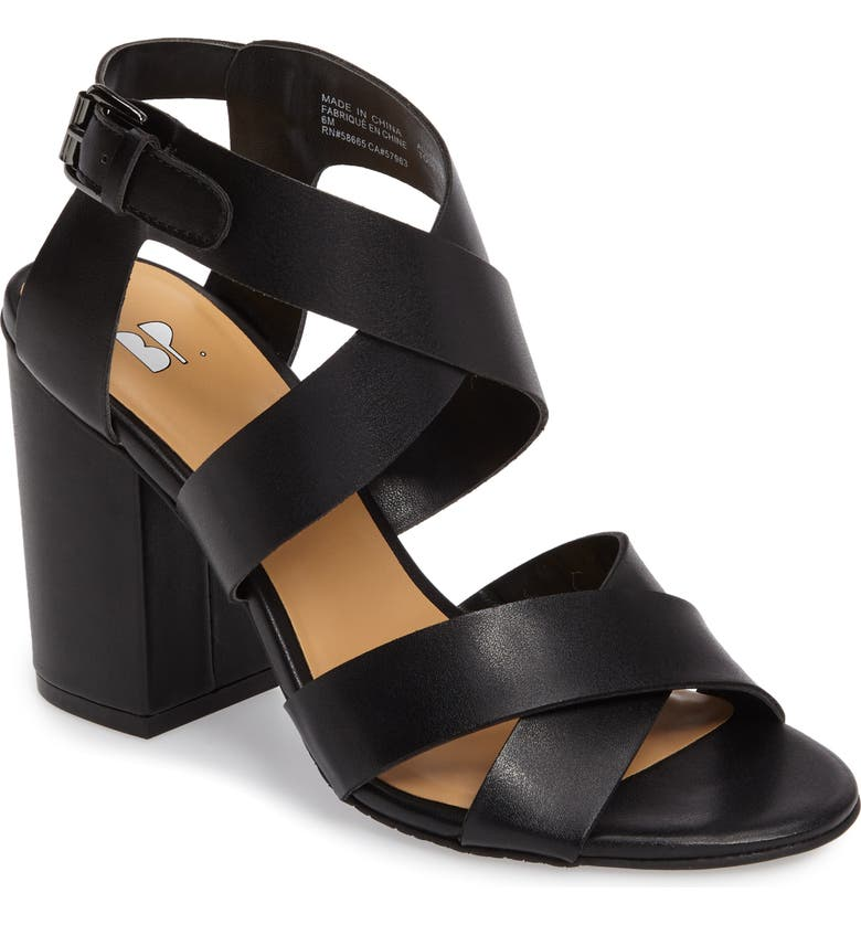 BP. Terry Block Heel Sandal, Main, color, 001