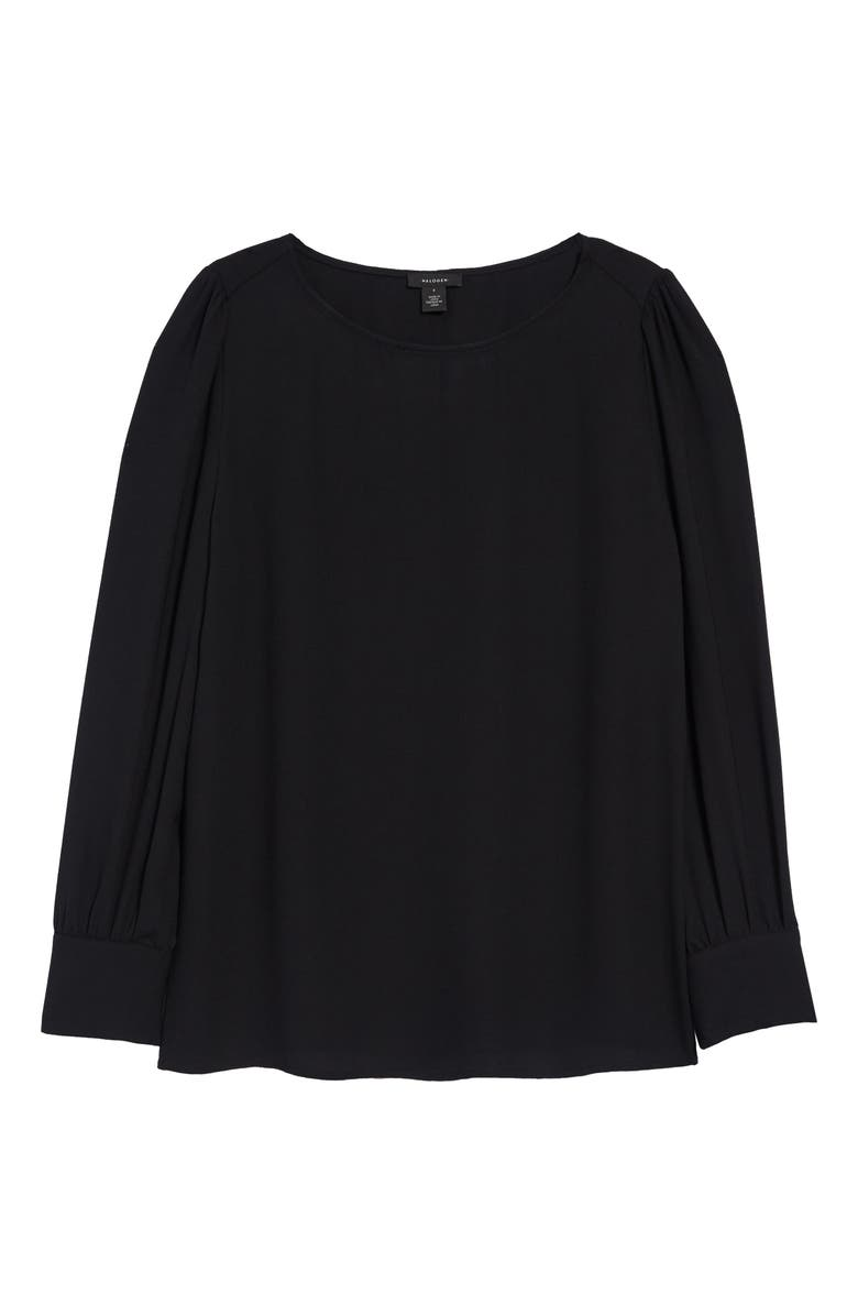 HALOGEN<SUP>®</SUP> Long Sleeve Blouse, Main, color, 001
