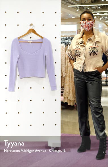 Sweetheart Neck Fluffy Sweater, sales video thumbnail