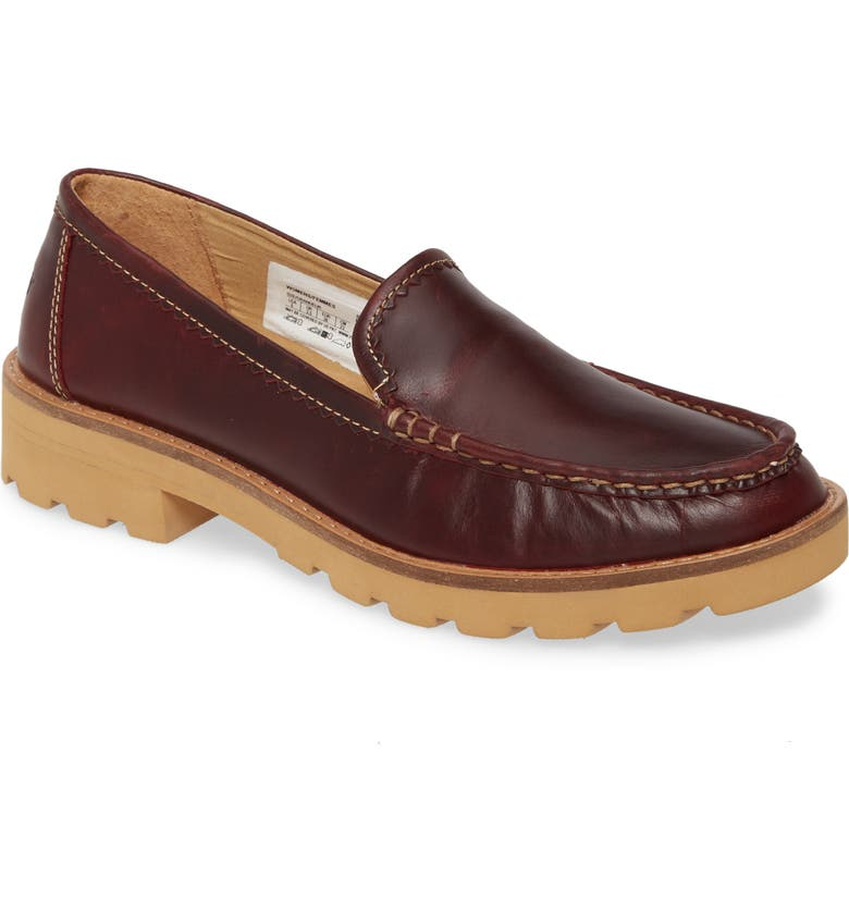 SPERRY Authentic Lug Sole Loafer, Main, color, WINE LEATHER LEATHER