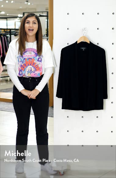 'Molly' Open Jersey Cardigan, sales video thumbnail
