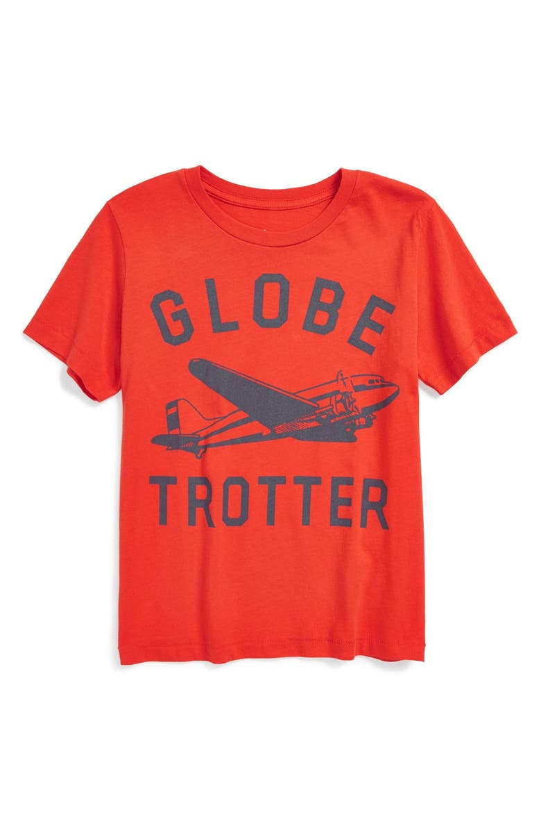 PEEK AREN'T YOU CURIOUS Peek 'Globetrotter' Graphic T-Shirt, Main, color, RED