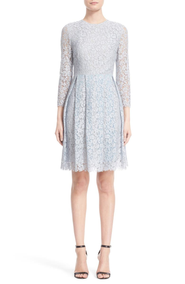 ERDEM Corded Lace Fit & Flare Dress, Main, color, 450