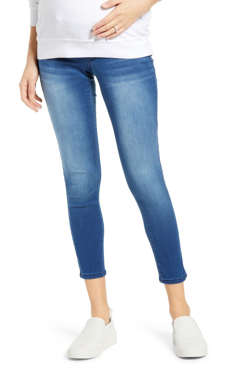 1822 DENIM Butter Ankle Skinny Maternity Jeans, Main, color, DONNA