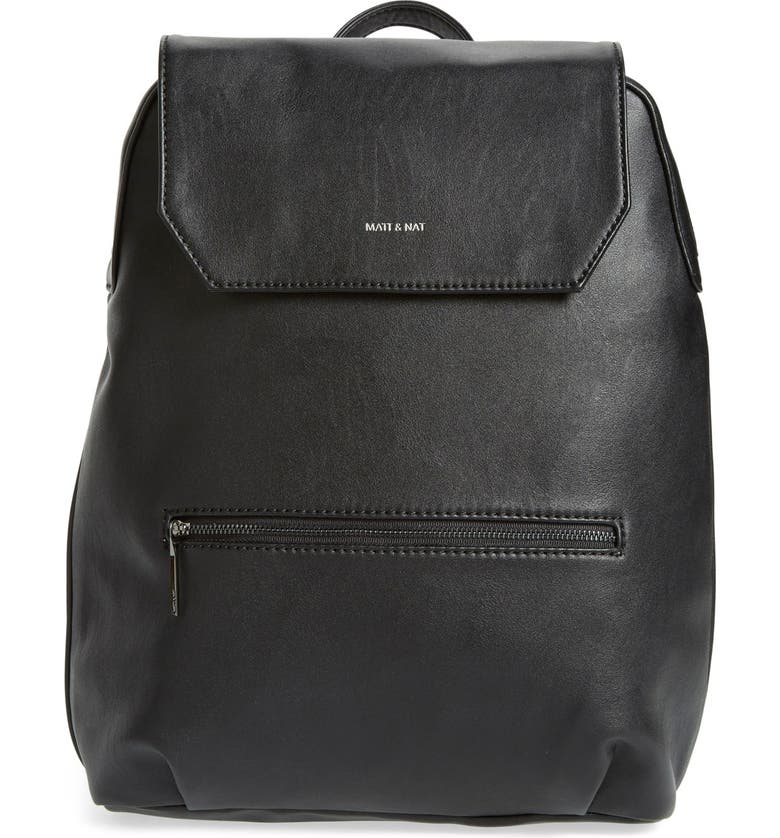 MATT & NAT 'Peltola' Vegan Leather Backpack, Main, color, 001
