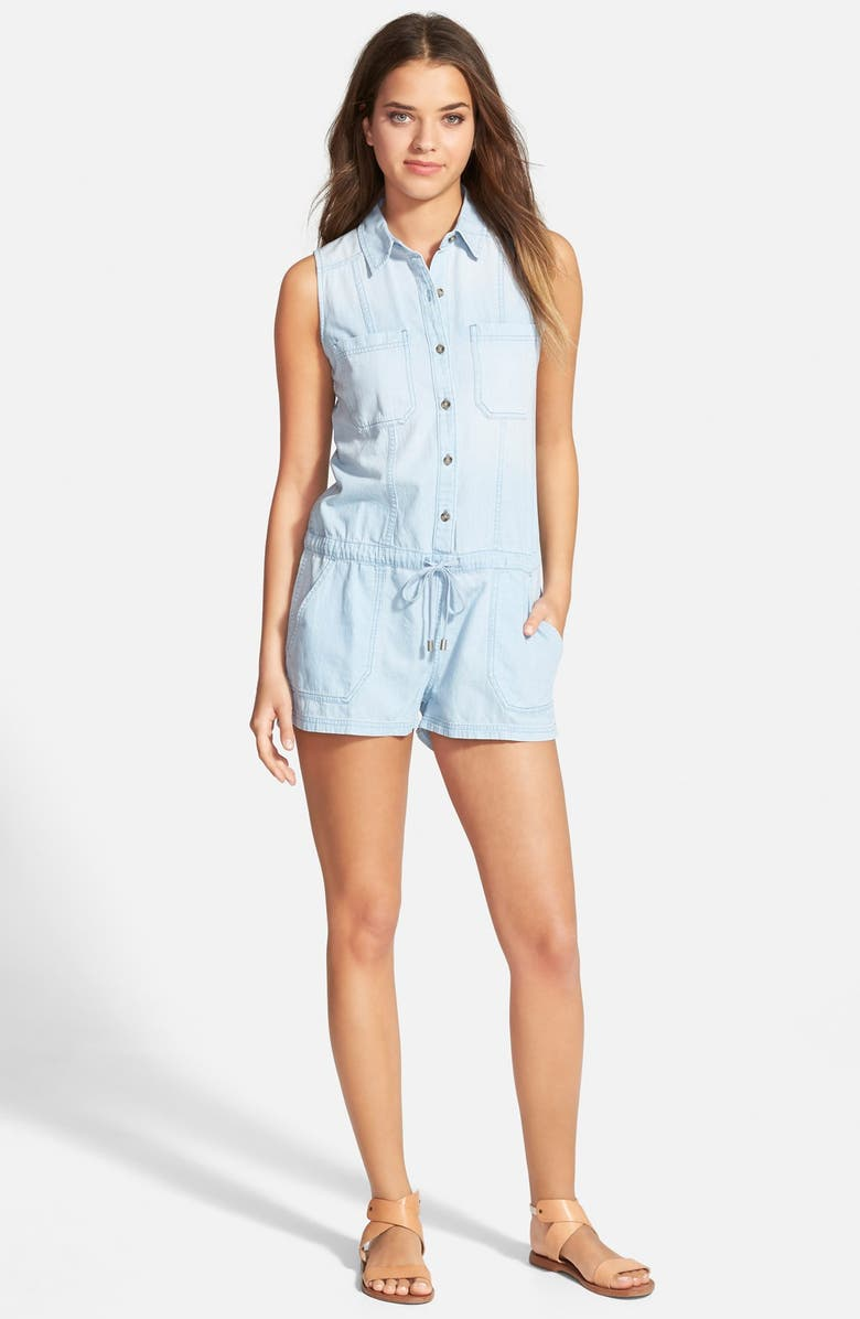 AG 'Hollis' Chambray Romper, Main, color, 400
