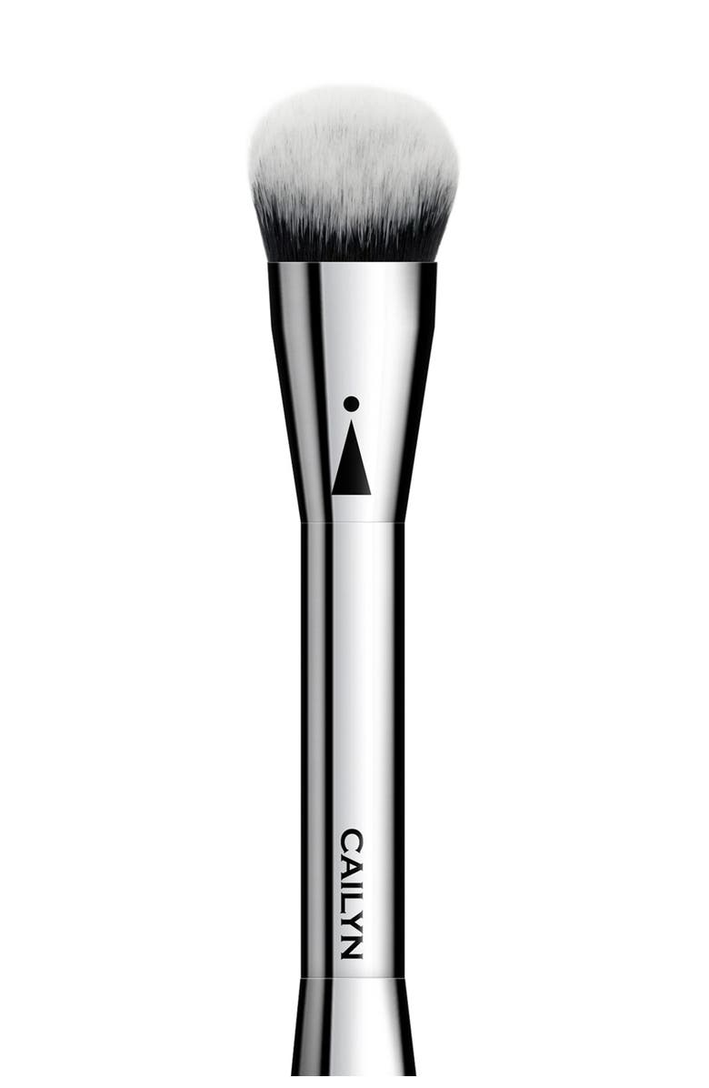 CAILYN iCone 14 Full Coverage Foundation Brush, Main, color, BLACK / SILVER
