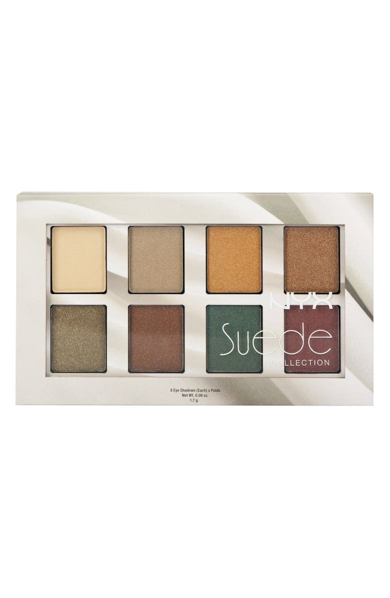 NYX 'Suede' Eyeshadow Palette, Main, color, 200