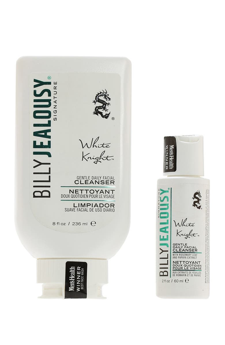 BILLY JEALOUSY 2-Piece White Knight Daily Facial Cleanser Set, Main, color, NO COLOR