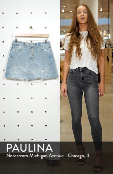 We the Free by Free People Denim A-Line Skirt, sales video thumbnail
