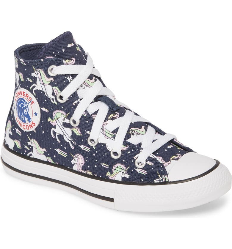 CONVERSE Chuck Taylor<sup>®</sup> All Star<sup>®</sup> Unicorns High Top Sneaker, Main, color, 410