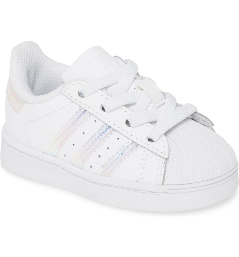 ADIDAS Superstar Crib Sneaker, Main, color, WHITE/ WHITE/ WHITE