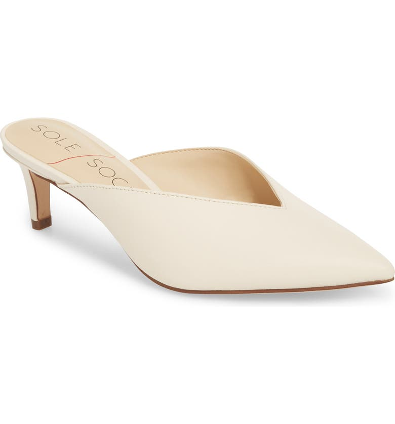 SOLE SOCIETY Maleah Pointy Toe Mule, Main, color, 102