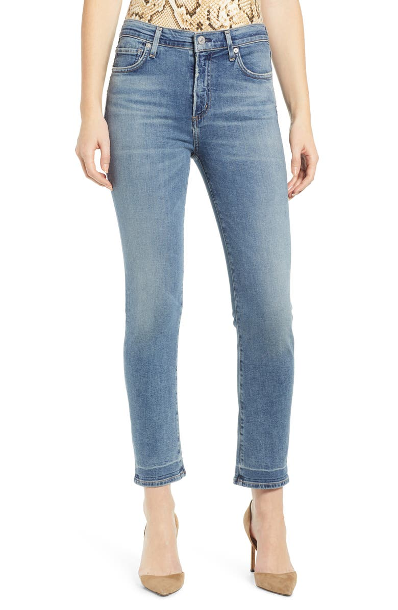 CITIZENS OF HUMANITY Harlow High Waist Ankle Slim Jeans, Main, color, CAPESIDE