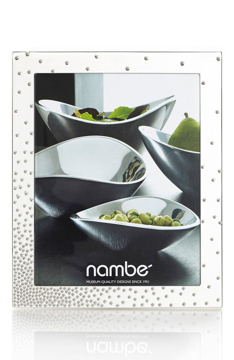 NAMBÉ Nambe Dazzle Picture Frame, Main, color, SILVER
