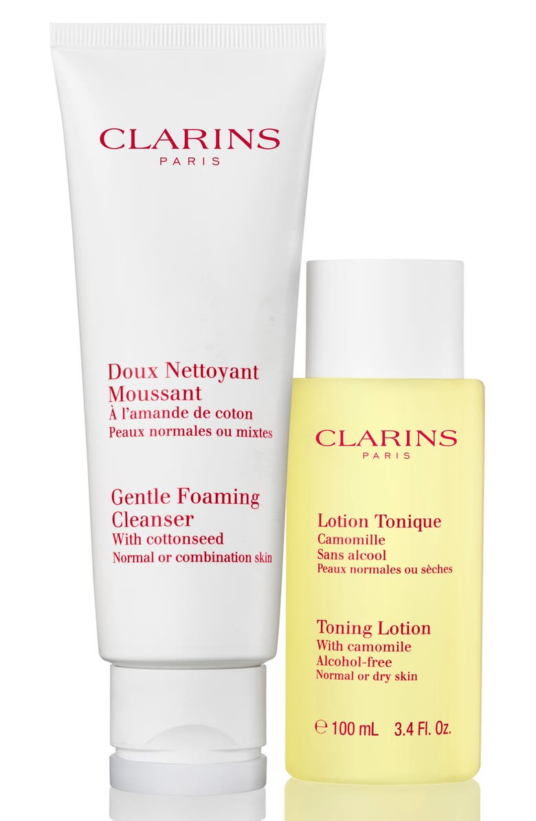 CLARINS Cleanse & Refresh for Normal or Combination Skin Set, Main, color, 000